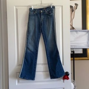 Hudson Jeans size 30 racing stripes & patches